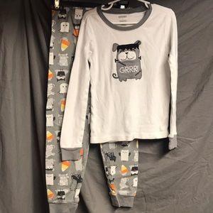 Gymboree Halloween pajamas. Size 7 and size 8.